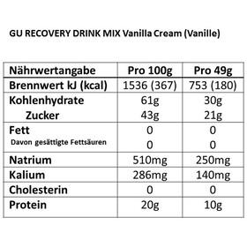 GU Energy Recovery Drink Mix Dose Vanilla Cream 750g